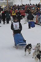 Blake Freking Willow restart Iditarod 2008.
