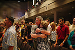 One of the Sunday morning services at North Point Community Church in Alpharetta, Georgia. North Point is a non-denominational Christian megachurch with more than 24,000 members in the congregation. With its five campuses, it is one of the largest churches in the United States.