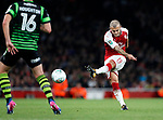 Arsenal's Jack Wilshere fires in a shot during the Carabao cup match at the Emirates Stadium, London. Picture date 20th September 2017. Picture credit should read: David Klein/Sportimage