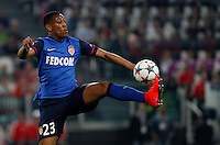 Calcio, quarti di finale di andata di Champions League: Juventus vs Monaco. Torino, Juventus stadium, 14 aprile 2015.<br /> Monaco's Anthony Martial controls the ball during the Champions League quarterfinals first leg football match between Juventus and Monaco at Juventus stadium, 14 April 2015.<br /> UPDATE IMAGES PRESS/Isabella Bonotto