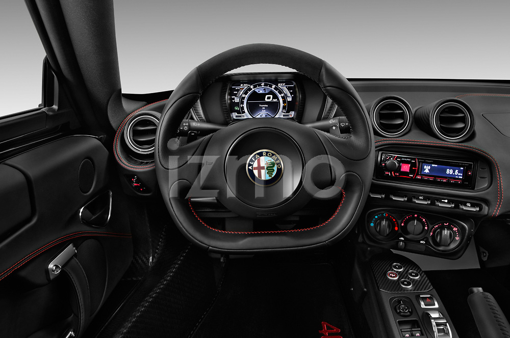 Car pictures of steering wheel view of a 2018 Alfa Romeo 4C Base 2 Door Coupe