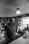 Shop owner a general store near Lerwick Shetland. 1970s