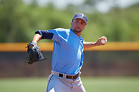 Tampa Bay Rays pitcher Michael Costanzo (60) during a Minor League Extended Spring Training game against the Baltimore Orioles on April 17, 2019 at Charlotte County Sports Complex in Port Charlotte, Florida.  (Mike Janes/Four Seam Images)