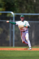 Eastern Michigan Eagles third baseman Devin Hager (23) throws to first base throws to first base during a game against the Dartmouth Big Green on February 25, 2017 at North Charlotte Regional Park in Port Charlotte, Florida.  Dartmouth defeated Eastern Michigan 8-4.  (Mike Janes/Four Seam Images)
