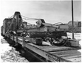 Right front view of C&amp;TS derrick OP.<br /> C&amp;TS  Chama, NM  Taken by Payne, Andy M. - 1/31/1971