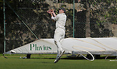 Carlton CC V Grange CC, Scottish National Cricket League, Premier Division, at Grange Loan, Edinburgh - Granges' Simon Tylor takes a catch on the boundary, for the wicket of Carlton pro Ross Lyons - Picture by Donald MacLeod 25.07.09
