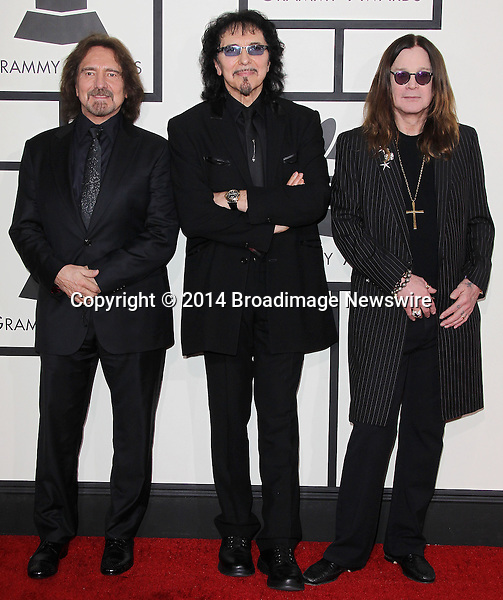 Pictured: Black Sabbath<br /> Mandatory Credit &copy; Frederick Taylor/Broadimage<br /> 56th Annual Grammy Awards - Red Carpet<br /> <br /> 1/26/14, Los Angeles, California, United States of America<br /> <br /> Broadimage Newswire<br /> Los Angeles 1+  (310) 301-1027<br /> New York      1+  (646) 827-9134<br /> sales@broadimage.com<br /> http://www.broadimage.com
