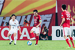 Guangzhou Midfielder Zheng Zhi  in action during the AFC Champions League 2017 Round of 16 match between Guangzhou Evergrande FC (CHN) vs Kashima Antlers (JPN) at the Tianhe Stadium on 23 May 2017 in Guangzhou, China. (Photo by Power Sport Images/Getty Images)