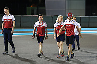 28th November 2019; Yas Marina Circuit, Abu Dhabi, United Arab Emirates; Formula 1 Abu Dhabi Grand Prix, arrivals day; Alfa Romeo Racing, Antonio Giovinazzi walk the circuit with his team - Editorial Use