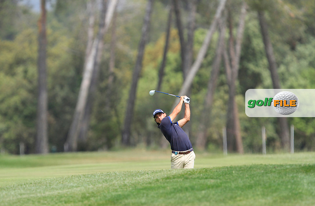 Borja Etchart (ESP) on the 18th fairway during Round 1 of the Open de Espana  in Club de Golf el Prat, Barcelona on Thursday 14th May 2015.<br /> Picture:  Thos Caffrey / www.golffile.ie