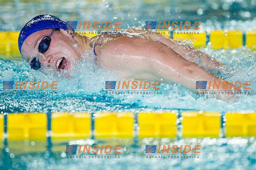 Ilaria Bianchi Fiamme Azzurre<br /> Day01 Batterie 100 Farfalla Donne<br /> Campionati Italiani Assoluti Nuoto Invernali Open Fin<br /> Riccione Italy 18-19/12/2015<br /> Photo Andrea Masini/Deepbluemedia/Insidefoto
