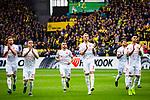 11.05.2019, Signal Iduna Park, Dortmund, GER, 1.FBL, Borussia Dortmund vs Fortuna Düsseldorf, DFL REGULATIONS PROHIBIT ANY USE OF PHOTOGRAPHS AS IMAGE SEQUENCES AND/OR QUASI-VIDEO<br /> <br /> im Bild | picture shows:<br /> die Fortunen begruessen die Gaestefans vor dem Spiel, <br /> <br /> Foto © nordphoto / Rauch