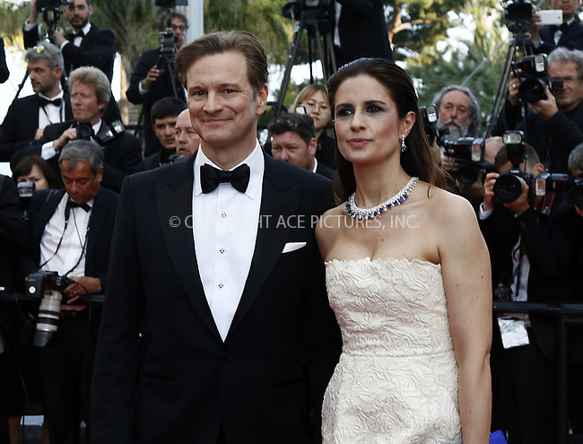 WWW.ACEPIXS.COM<br /> <br /> May 16 2016, Cannes<br /> <br /> Colin Firth and Livia Firth attending the premiere of 'Loving' at the annual 69th Cannes Film Festival at Palais des Festivals on May 16, 2016 in Cannes, France.<br /> <br /> By Line: Famous/ACE Pictures<br /> <br /> <br /> ACE Pictures, Inc.<br /> tel: 646 769 0430<br /> Email: info@acepixs.com<br /> www.acepixs.com