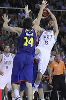 14.06.2013 Bacelona, Spain. Liga Endesa Play Off titulo. Picture show Sergio Rodriguez in action during game betwen FC BArcelona v Real Madrid at Palau Blaugrana