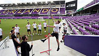 Orlando, Florida - Friday January 12, 2018: Jon Gallagher during the vertical leap. The 2018 adidas MLS Player Combine Skills Testing was held Orlando City Stadium.