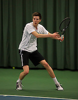 Rotterdam, The Netherlands, 15.03.2014. NOJK 14 and 18 years ,National Indoor Juniors Championships of 2014, Gijs Brouwer (NED)<br /> Photo:Tennisimages/Henk Koster