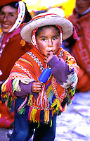 Andean Indian Child at Festival