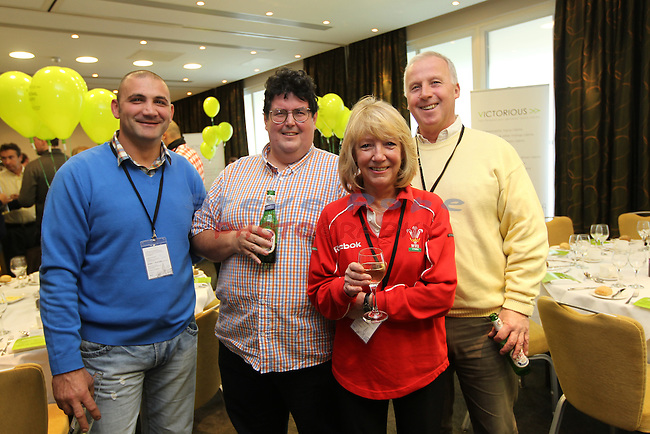 Victorious Launch Lunch..L-R: Andrew Paraskeva, Dave Coles, Suzi Wixey and Robert Wixey..03.12.11.©Steve Pope