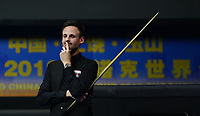 31st October 2019, Yushan, Jiangxi Province, China; David Gilbert of England contemplates his next shot during the round of 16 match against Mark Allen of Northern Ireland at 2019 Snooker World Open in Yushan