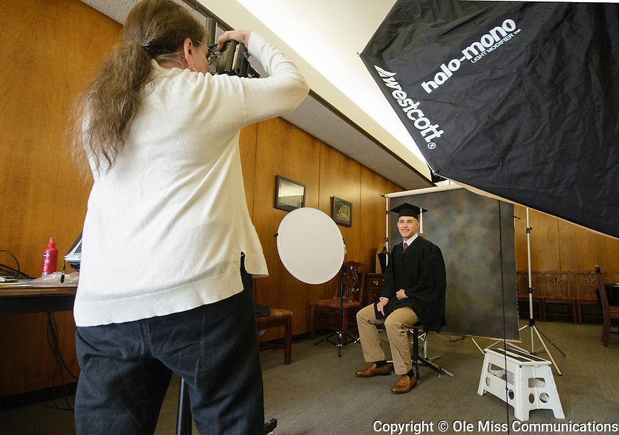 Jordan Gallegos poses for senior yearbook photos at the Union October 24, 2016. Photo by Marlee Crawford/Ole Miss Communications