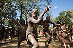 Indigenous dance troupe at the Laura Aboriginal Dance Festival.  Laura, Queensland, Australia