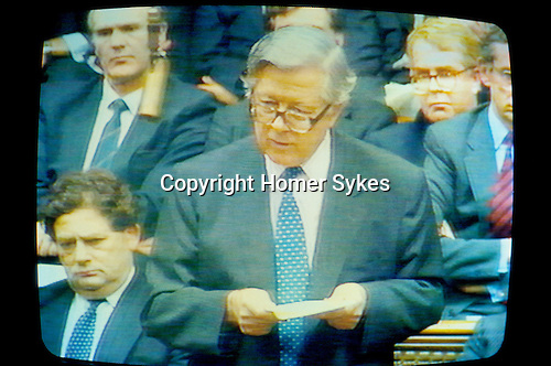 Sir G. Howe on TV. Resignation Speech. House of Commons. 13 November 1990