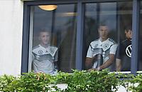 Marco Reus (Deutschland, Germany) und Leon Goretzka (Deutschland Germany) im Fitnessraum - 03.06.2019: Trainingslager der Deutschen Nationalmannschaft zur EM-Qualifikation in Venlo/NL
