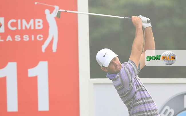 Charl Schwartzel (USA) on the 11th tee during Round 3 of the CIMB Classic in the Kuala Lumpur Golf &amp; Country Club on Saturday 1st November 2014.<br /> Picture:  Thos Caffrey / www.golffile.ie