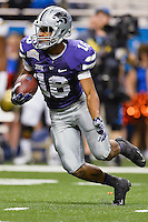Kansas State wide receiver Tyler Lockett (16) attempts a kick return during first half of Alamo Bowl, Friday, January 02, 2015 in San Antonio, Tex. UCLA leads Kansas State 31-6 at the halftime. (Mo Khursheed/TFV Media via AP Images)