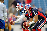 13 November 2005: Buffalo Bills quarterback J. P. Losman (7) and backup quarterback Kelly Holcomb (10) take some pre-game snaps prior to facing the Kansas City Chiefs at Ralph Wilson Stadium in Orchard Park, NY. The Bills defeated the Chiefs 14-3. ..Mandatory Photo Credit: Ed Wolfstein