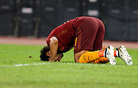 Calcio, Serie A: Roma vs Palermo. Roma, stadio Olimpico, 23 ottobre 2016.<br />