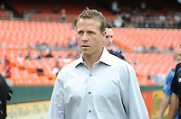 Philadelphia Union head coach John Hackworth. D.C. United tied The Philadelphia Union 1-1 at RFK Stadium, Saturday August 19, 2012.