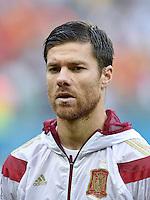 FUSSBALL WM 2014  VORRUNDE    Gruppe B     Spanien - Niederlande                13.06.2014 Xabi Alonso  (Spanien)