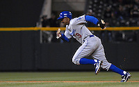 Los Angeles Dodgers left fielder Juan Pierre succesfully steals 3rd base against the Colorado Rockies in Denver, Colorado on May 3.  Pierre stole 2 bases in the game. The Dodgers defeated the Rockies 12-7.