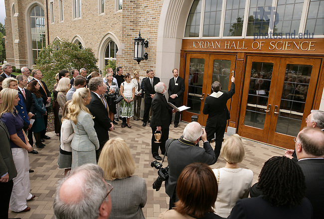 Jordan Hall of Science dedication, September 2006