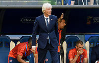 SAMARA - RUSIA, 28-06-2018: Jose PEKERMAN técnico de Colombia durante partido de la primera fase, Grupo H, contra de Senegal por la Copa Mundial de la FIFA Rusia 2018 jugado en el estadio Samara Arena en Samara, Rusia. / Jose PEKERMAN coach of Colombia during match against Senegal of the first phase, Group H, for the FIFA World Cup Russia 2018 played at Samara Arena stadium in Samara, Russia. Photo: VizzorImage / Julian Medina / Cont