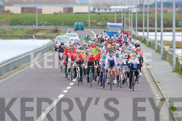 LACEY CUP: The start of the Lacey Cup cycle race on Sunday.