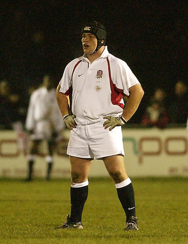 Picture: Henry Browne.Date: 14/02/2003.England U21 v France U21 Six Nations.Matthew Stevens of England