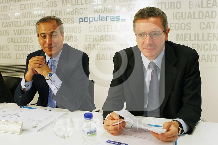 Alberto Ruiz Gallardon durante el Comite Ejecutivo Nacional del PP..(ALTERPHOTOS/Acero).