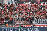 14.04.2018, BayArena, Leverkusen , GER, 1.FBL., Bayer 04 Leverkusen vs. Eintracht Frankfurt<br /> im Bild / picture shows: <br /> Fans, freundlich, Stimmung, farbenfroh, Nationalfarbe, geschminkt, Emotionen,  Leverkusener <br /> <br /> <br /> Foto &copy; nordphoto / Meuter