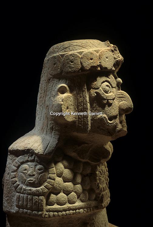 Maya; Mexico; Uxumal; Pajaros Group; Warrior; Statue; archaeology; Americas