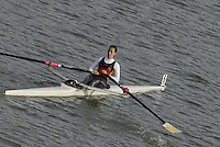 "Seville. SPAIN, 17.02.2007, clears the ""Puente de la Barqueta"" [bridge] during Saturdays heats, of the FISA Team Cup, held on the River Guadalquiver course. [Photo Peter Spurrier/Intersport Images]    [Mandatory Credit, Peter Spurier/ Intersport Images]. , Rowing Course: Rio Guadalquiver Rowing Course, Seville, SPAIN,"