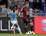 Calcio, Serie A: Lazio vs Genoa. Roma, stadio Olimpico, 23 settembre 2012..Genoa forward Ciro Immobile is chased by \l39, left, during the Italian Serie A football match between Lazio and Genoa at Rome's Olympic stadium, 23 September 2012..UPDATE IMAGES PRESS/Riccardo De Luca