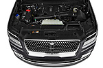 Car stock 2018 Lincoln Navigator L Reserve 5 Door Wagon engine high angle detail view