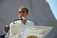 "August 10, 2011 (Washington, DC)  The Honorable Eleanor Holmes Norton (D-DC), speaks at a press conference outlining the District of Columbia's involvement in the upcoming dedication of the Martin Luther King Jr. National Memorial in Washington.  The memorial will commemorate the life and work of Dr. Martin Luther King, Jr.  More than 200,000 people are expected to attend week-long events leading up to the dedication on August 28, 2011, including many who attended Dr. King's ""I have a Dream"" Speech.  (Photo: Don Baxter/Media Images International)"