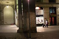 Milano: clochard dormono nel centro di Milano durante i giorni di grande freddo.