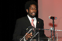 DC United midfielder Clyde Simms recipient of the Volkswagen Most Valuable Player award.   At the 6th Annual DC United Awards Presentation ,at the Atlas Performing Arts Center in Washington DC ,Wednesday October 27, 2009.