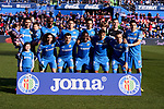 Team photo of Getafe FC during La Liga match between Getafe CF and Real Betis Balompie at Wanda Metropolitano Stadium in Madrid, Spain. January 26, 2020. (ALTERPHOTOS/A. Perez Meca)