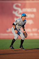 Hudson Valley Renegades shortstop Ford Proctor (7) during a game against the Auburn Doubledays on September 5, 2018 at Falcon Park in Auburn, New York.  Hudson Valley defeated Auburn 11-5.  (Mike Janes/Four Seam Images)