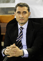 Valencia CF's coach Ernesto Valverde during Champions League 2012/2013 match.February 12,2013. (ALTERPHOTOS/Acero) /NortePhoto